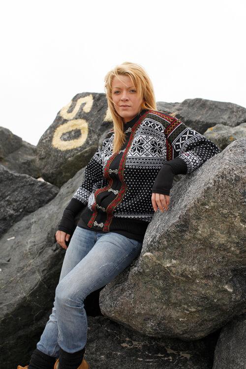 Original Norsk ull kofta av ren kammgarnsull från Gjestal