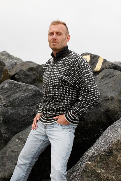 Classic NORWOOL Stickad kofta av ren ny norsk uld