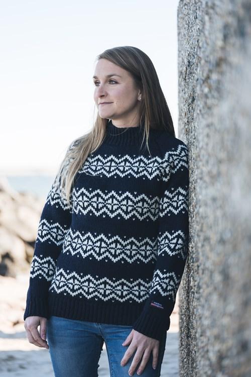 Original Island tröja från NORWOOL av ren ny ull. mraglanärmar